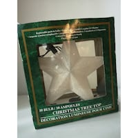 Frosted Light-up Tree Star Topper white  Burnaby