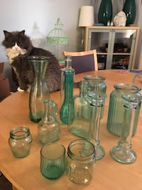 Turquoise glass vases and candle holders Ottawa, K2P 1X1