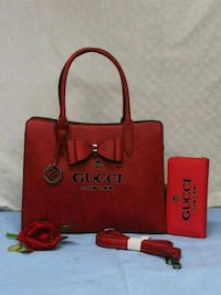 tote bag in pelle rossa e marrone Maddaloni, 81024