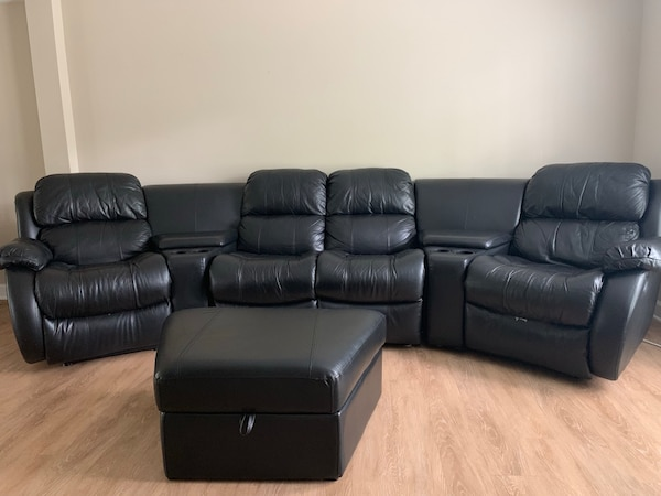 Black Reclining Sectional