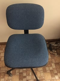 Fabric Desk and Computer Chair