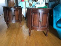 TWO solid wood side tables with storage EXCELLENT CONDITION Toronto, M4C 3R7
