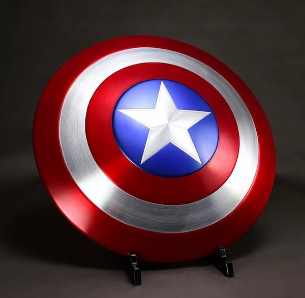 11 Avengers Captain America Shield Aluminum Version With Wooden Box