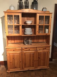 Brown wooden cabinet with hutch St Catharines, L2M 5M9