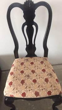 brown wooden framed white and red floral padded chair Hidalgo, 78557