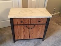 Wood cabinet with cement top  null, T8C 1H4