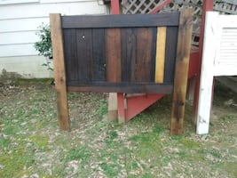 Reclaimed Barn Wood Headboard Queen