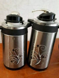 two stainless steel coffee mugs Montréal, H4J 1J7