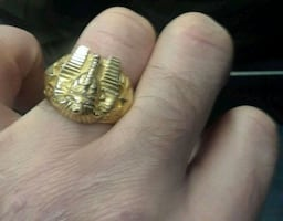 18kt gold king tut ring need it gone moving this week
