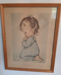 "1950's Charlot Byi ""A Child's Prayer"" Glass and frame Pick-up in Newma Newmarket"