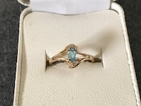 10kt gold blue topaz and diamond ring Glen Burnie, 21061