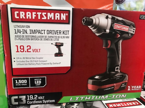 Black And Red Craftsman Cordless Impact Wrench Box