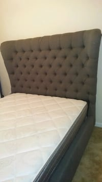 Really Nice Gray Queen-Size Upholstered Headboard  Newport News, 23607