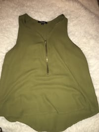 zip up olive green tank top size small Katy, 77494
