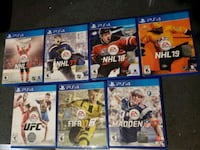 PS4 GAME LOT $50 OR SOLD SEPARATE $10 Pickering, L1V 6W3