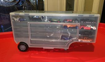 Toy car collect with carrying case cars included