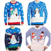 Brand New Blue Men's Christmas Sweaters