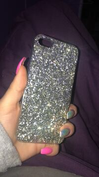 Silver and diamond studded iphone case Mississauga