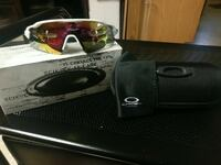 White Oakley sunglasses with box