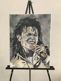 Michael Jackson 18x24 Canvas Painting  Los Angeles, 91316