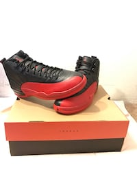 Black and red Jordan 12 size 11.5 men's. dead stock. Pricing negotiable Daly City