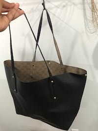 black leather 2-way handbag Surrey