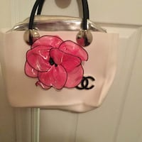 pink and white chanel floral tote bag Lorton, 22079