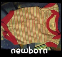 toddler's yellow and red short sleeve onesie Napanee, K7R 3K7