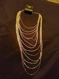 Gold-colored multi-strand necklace Bozeman, 59715