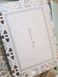 New - Fancy Blank Thank You Cards Mississauga, L5V 0B5