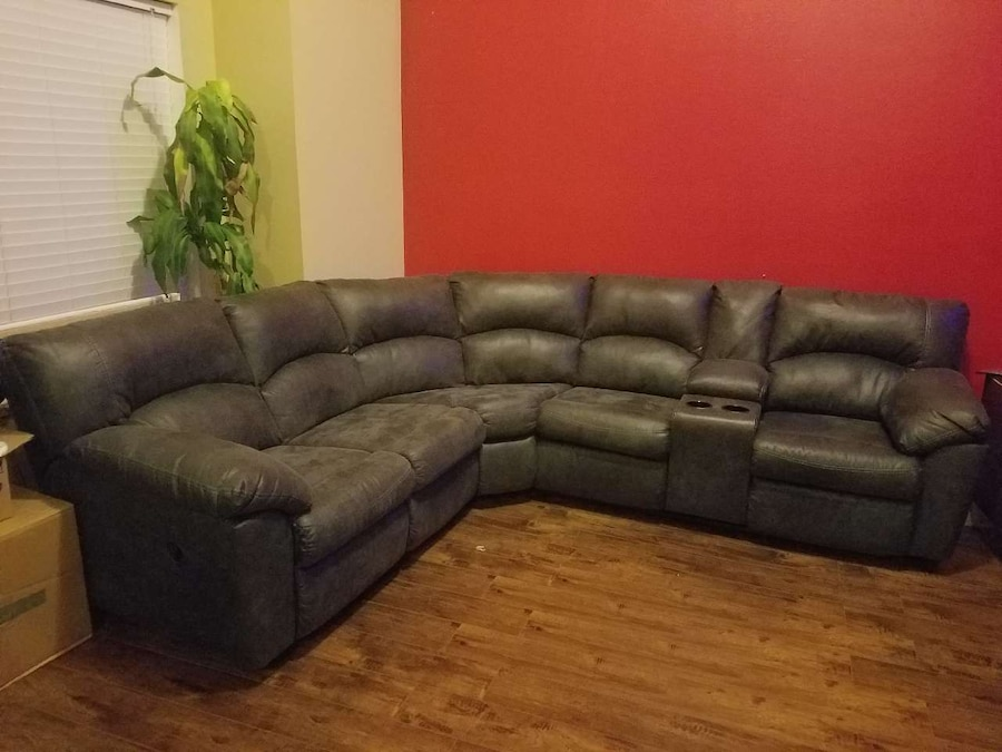 Letgo Dark Grey 2 Piece Sectional Ashley In Kearns Ut