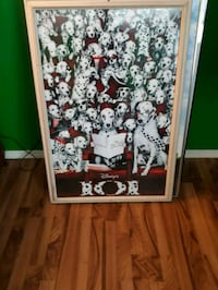 101 dalmatians movie poster framed  Edmonton, T5N 3A1