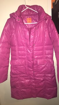 Pink metersbonwe( M)zip-up bubble jacket with detachable hoodie Toronto, M6K 2K3