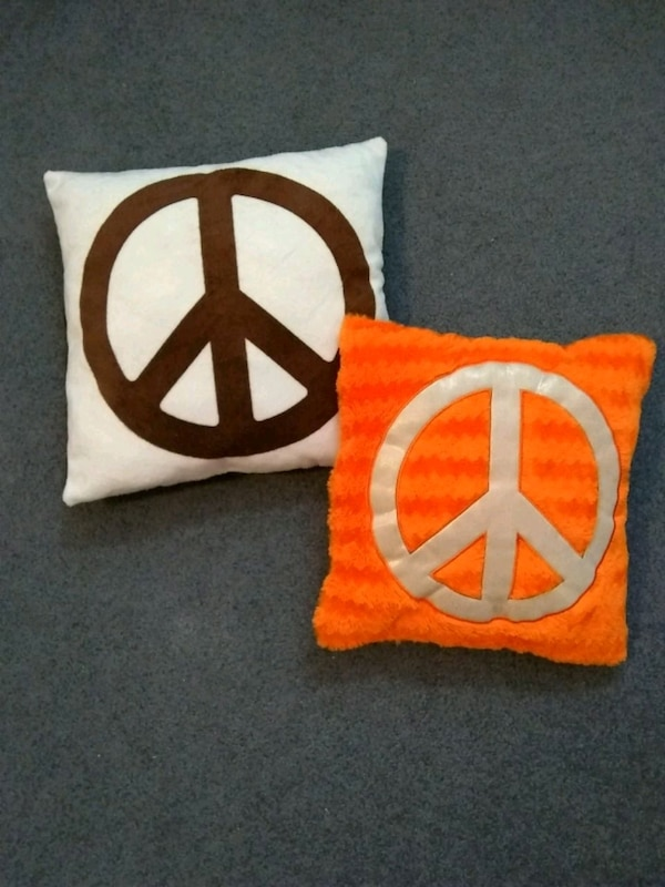 Peace sign pillows