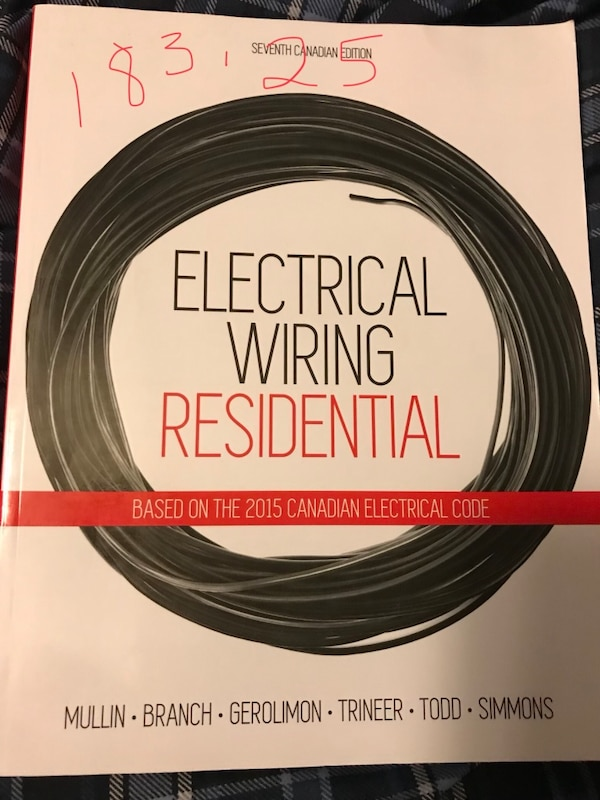 Fine Brukt Electrical Wiring Residential Textbook Paid 183 25 Looking Wiring 101 Capemaxxcnl