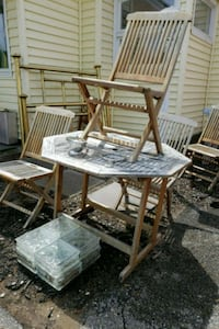 Table and chairs Sawyer, 49125