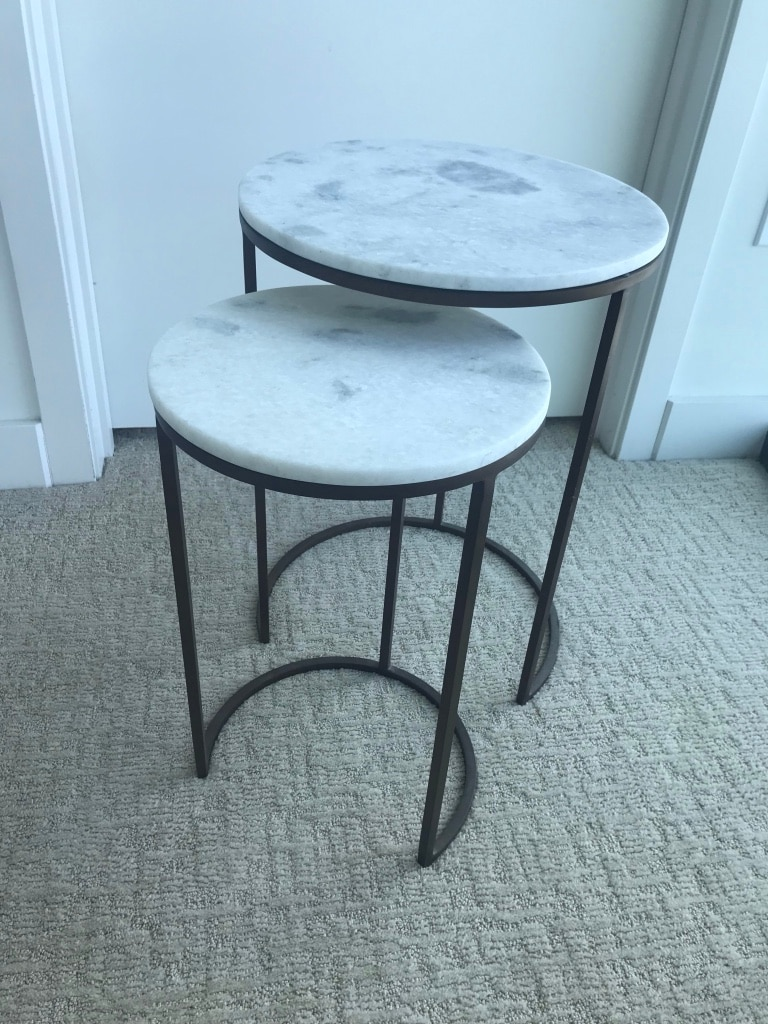 West Elm Marble Round Nesting Coffee Table (set Of 2)   Like New