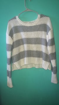 white and gray striped sweater Lancaster, 14086