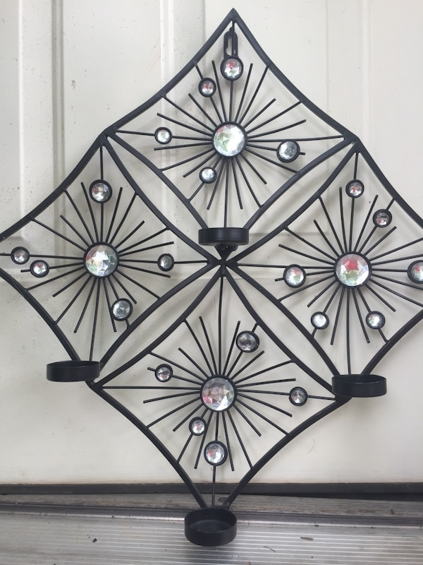 black and white floral wall decor
