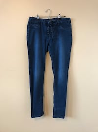 Stretchy lace-up jeans