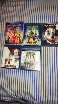 Five assorted dvd movies New York, 10466