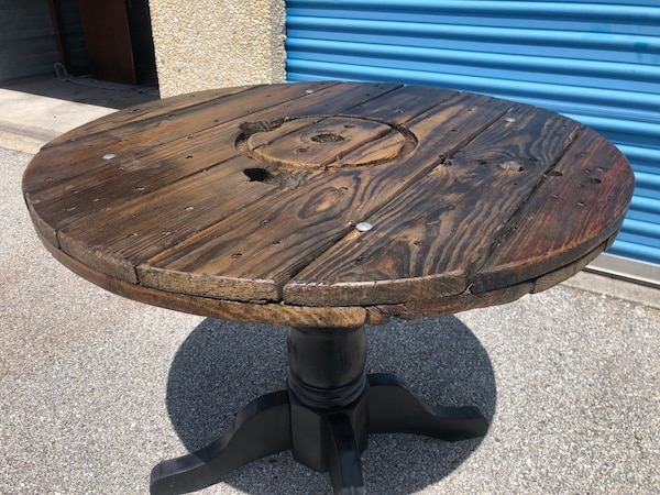 Industrial Cable Spool Table