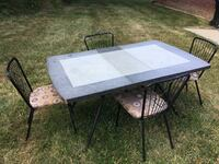 Vintage Formica-top table and 4 chairs Oregon, 43616