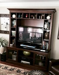 Bassett Wood Entertainment Center Bookshelf Cabinet Rockville, 20852