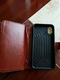 leather iPhone x wallet case York, 17406