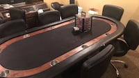 Poker table top, poker chips, playing cards and 8 poker chairs Midland, 79701