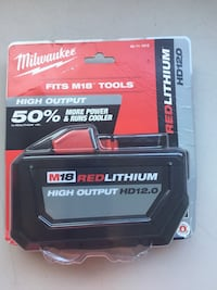 Milwaukee new brand 18M RED LITHIUM HIGH OUTPUT - HD 12.0 FITS M18 TOOLS NEW BRAND Los Angeles, 91343