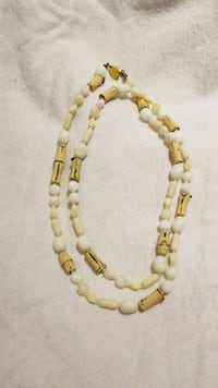 yellow and white beaded necklace Takoma Park, 20912