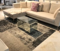 Coffee table/ 2 mirrored side tables 882 mi