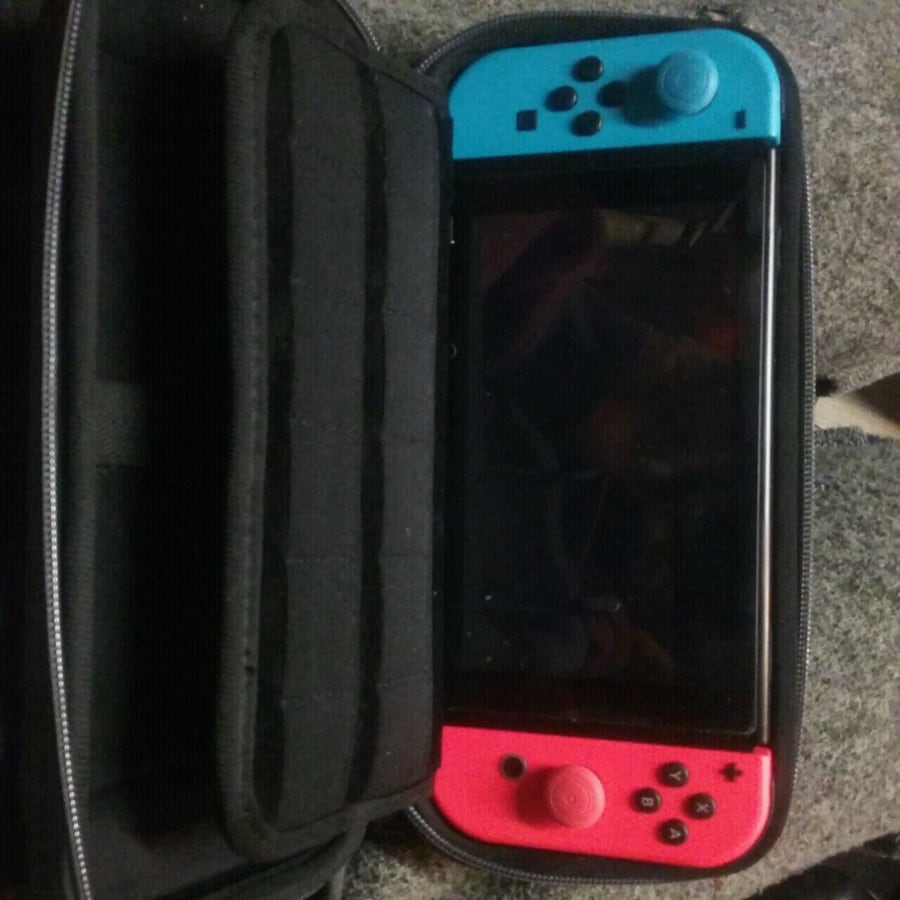 Nintendo switch with hard shell case